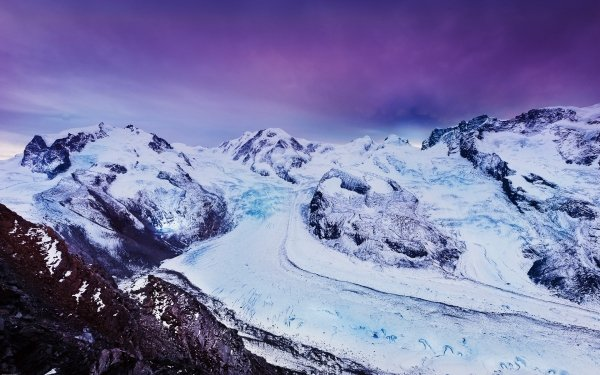 Earth Mountain Mountains Glacier Winter Ice HD Wallpaper   Background Image