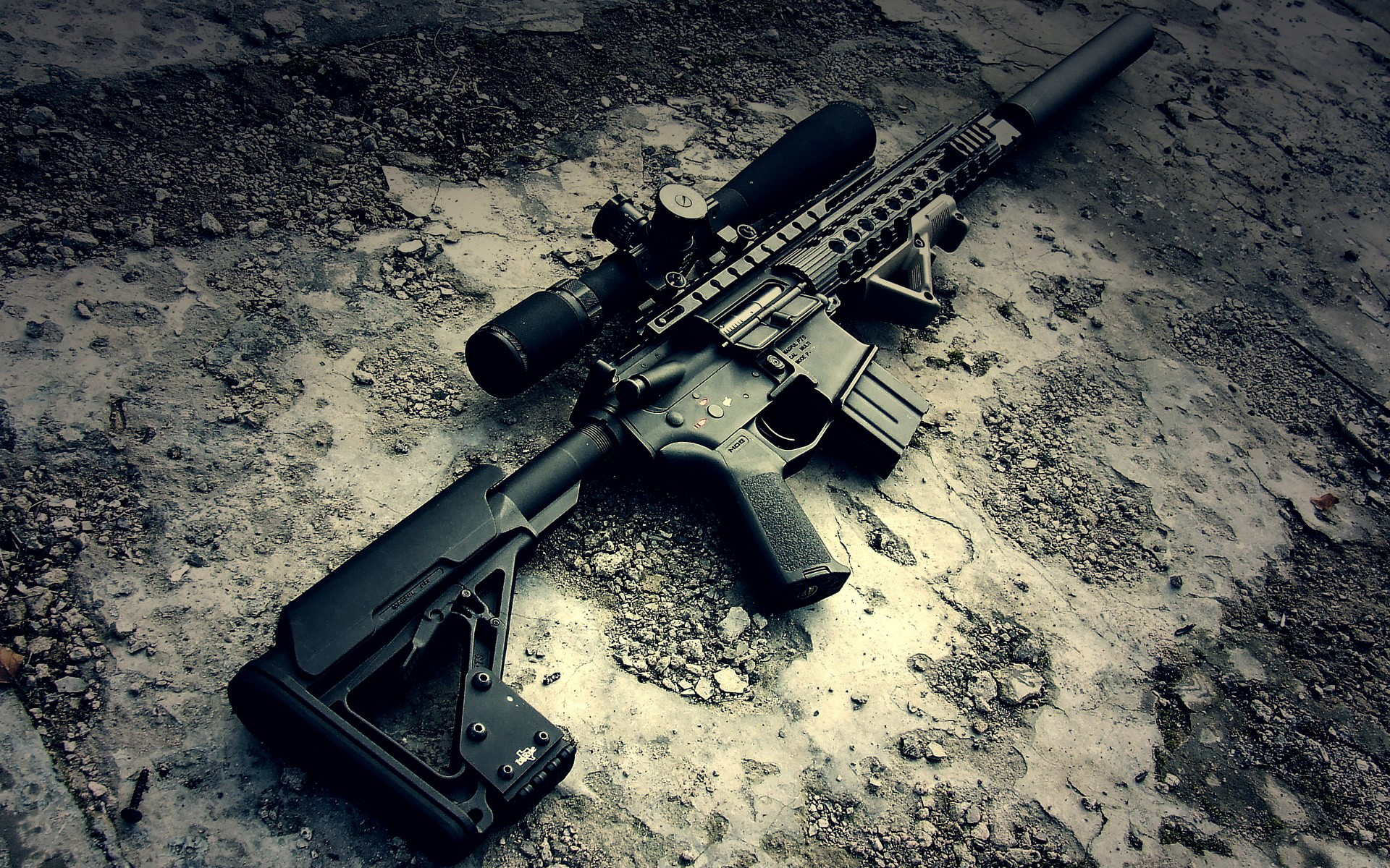 Assault Rifle Full HD Wallpaper And Background Image