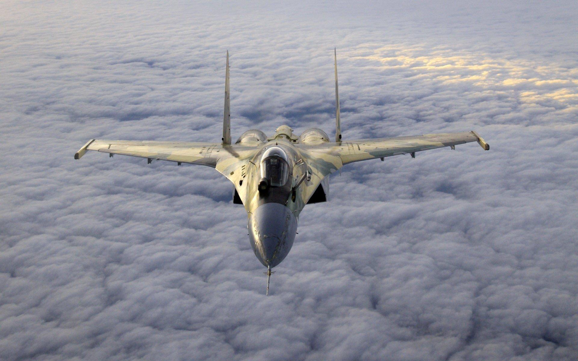 Military - Sukhoi Su-35  Aircraft Military Air Force Warplane Wallpaper