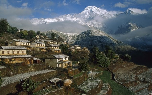 Man Made Town Towns Nepal HD Wallpaper   Background Image