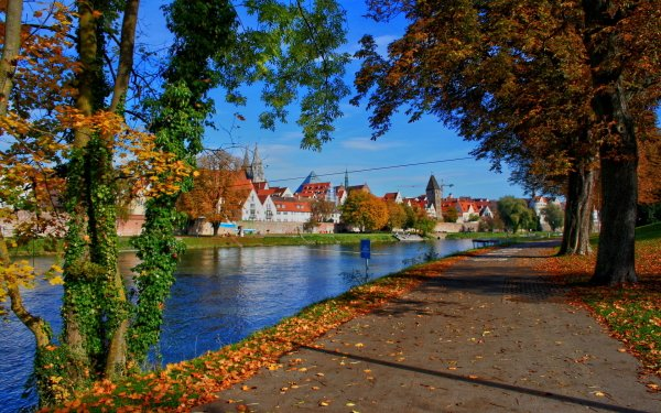 Man Made Town Towns Bavaria River Germany HD Wallpaper | Background Image