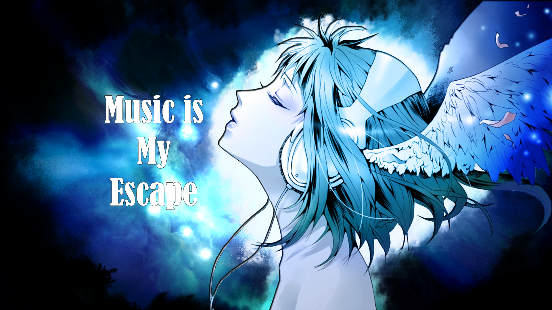 Music Is My Escape Hd Wallpaper Background Image 1920x1080 Id