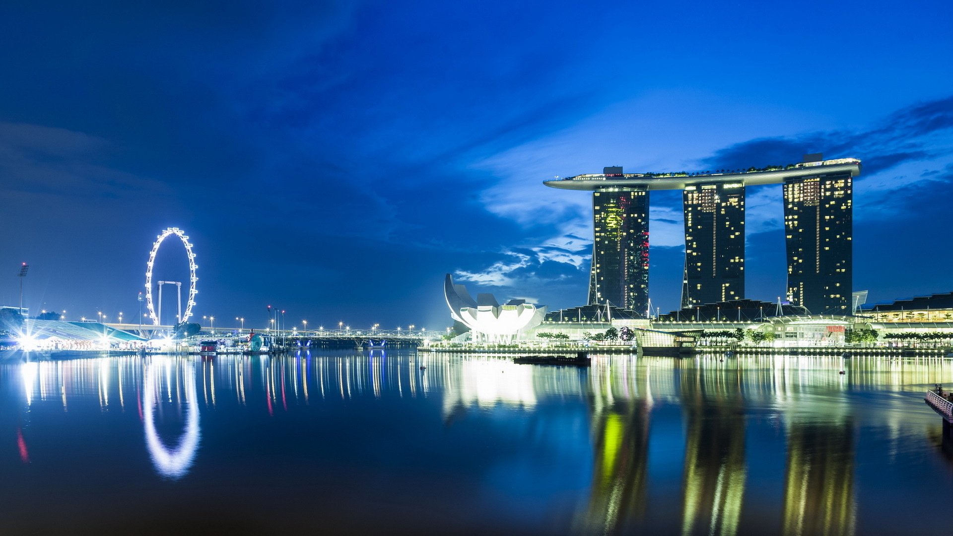 Marina Bay Sands Full Hd Wallpaper And Background Image