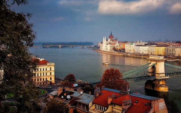 Man Made Margaret Bridge Bridges Budapest Hungary Chain Bridge HD Wallpaper | Background Image