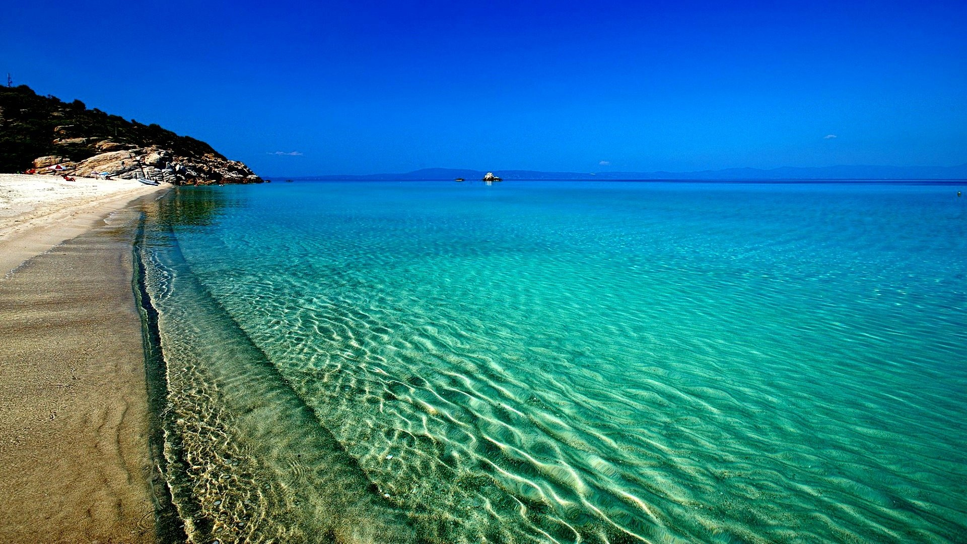 Clearest Water In The World Beach Full Hd Wallpaper And Background Image 1920x1080