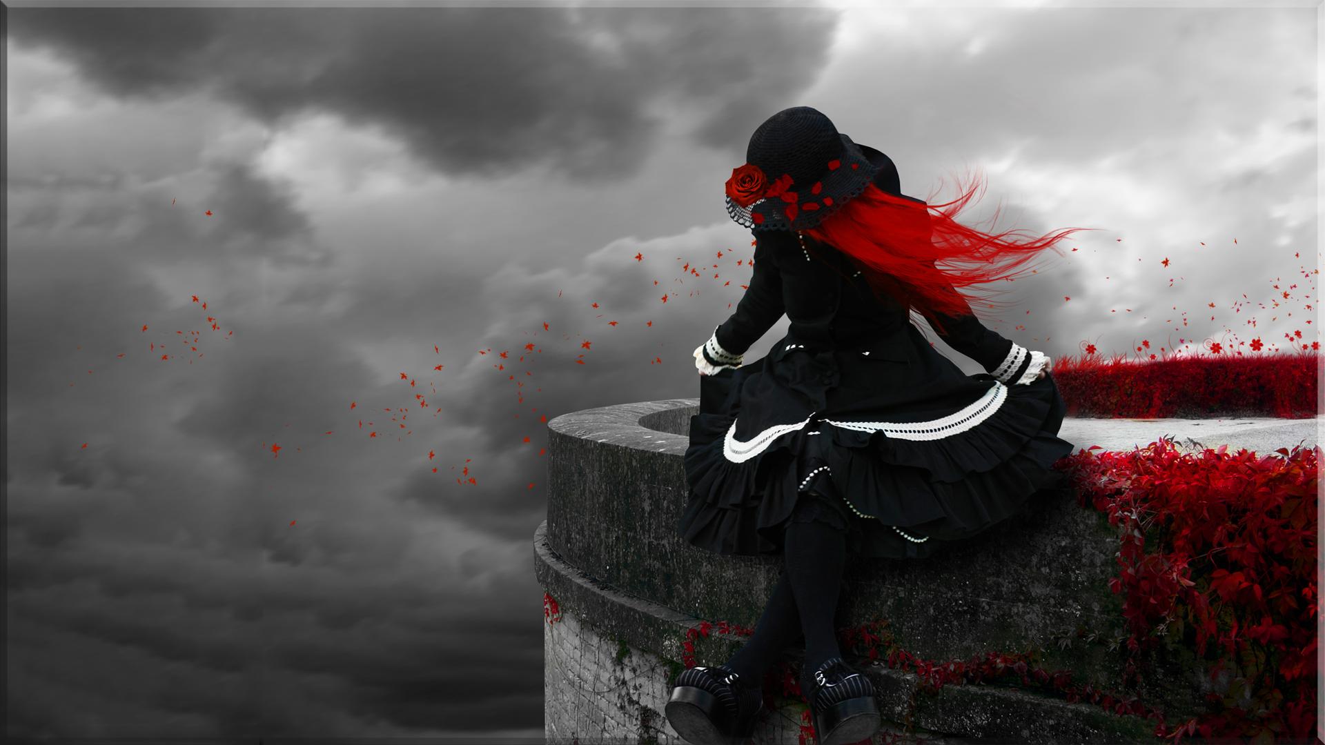 Gothic Redhead HD Wallpaper