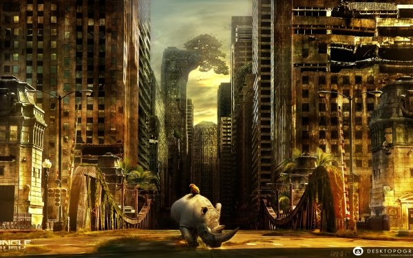 Artistic Desktopography HD Wallpaper   Background Image