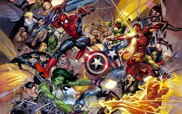 Comics Civil War Dagger Cloak Jennifer Walters Susan Storm Viuda negra She-Hulk Invisible Woman Spider-Man Mister Fantastic Capitan América Human Torch Iron Man Wasp Cheetah Vision Speed Fondo de pantalla HD | Fondo de Escritorio