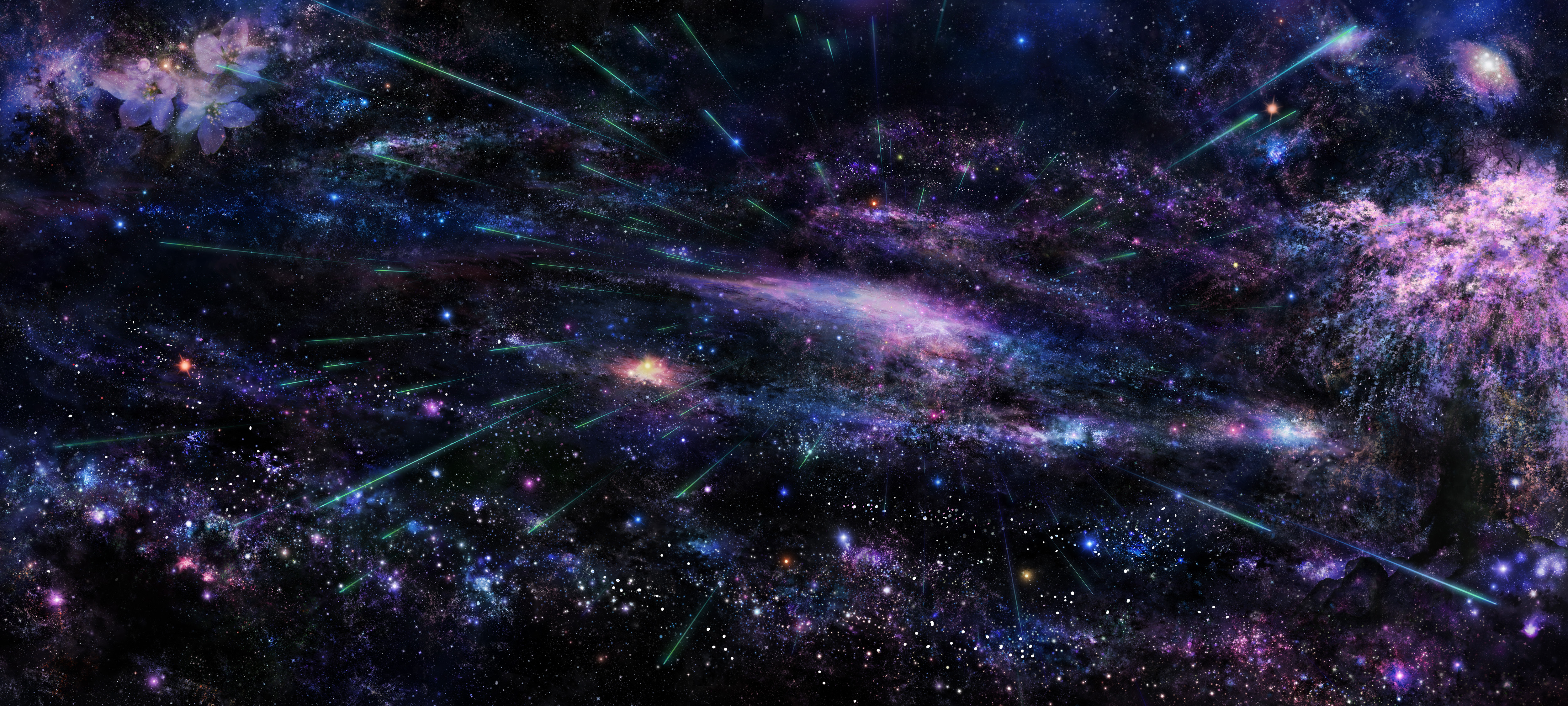 space 4k ultra hd wallpaper and background image | 5000x2252 | id:372225