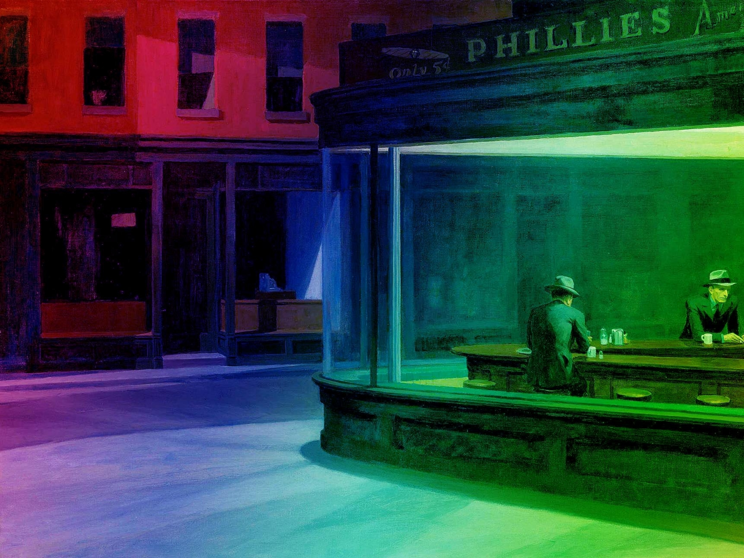 Nighthawks At The Diner Full HD Wallpaper and Background ...