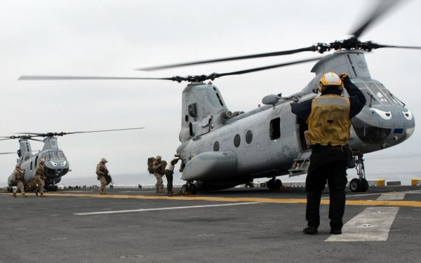 Military Boeing Vertol CH-46 Sea Knight Military Helicopters Navy Marines Vehicle Aircraft Helicopter HD Wallpaper | Background Image