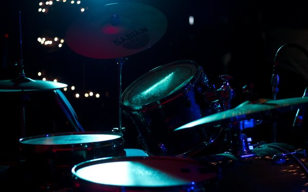 Music Drums Drum Set Percussion Blue Concert Yamaha Sabian Snare Cymbal HD Wallpaper | Background Image