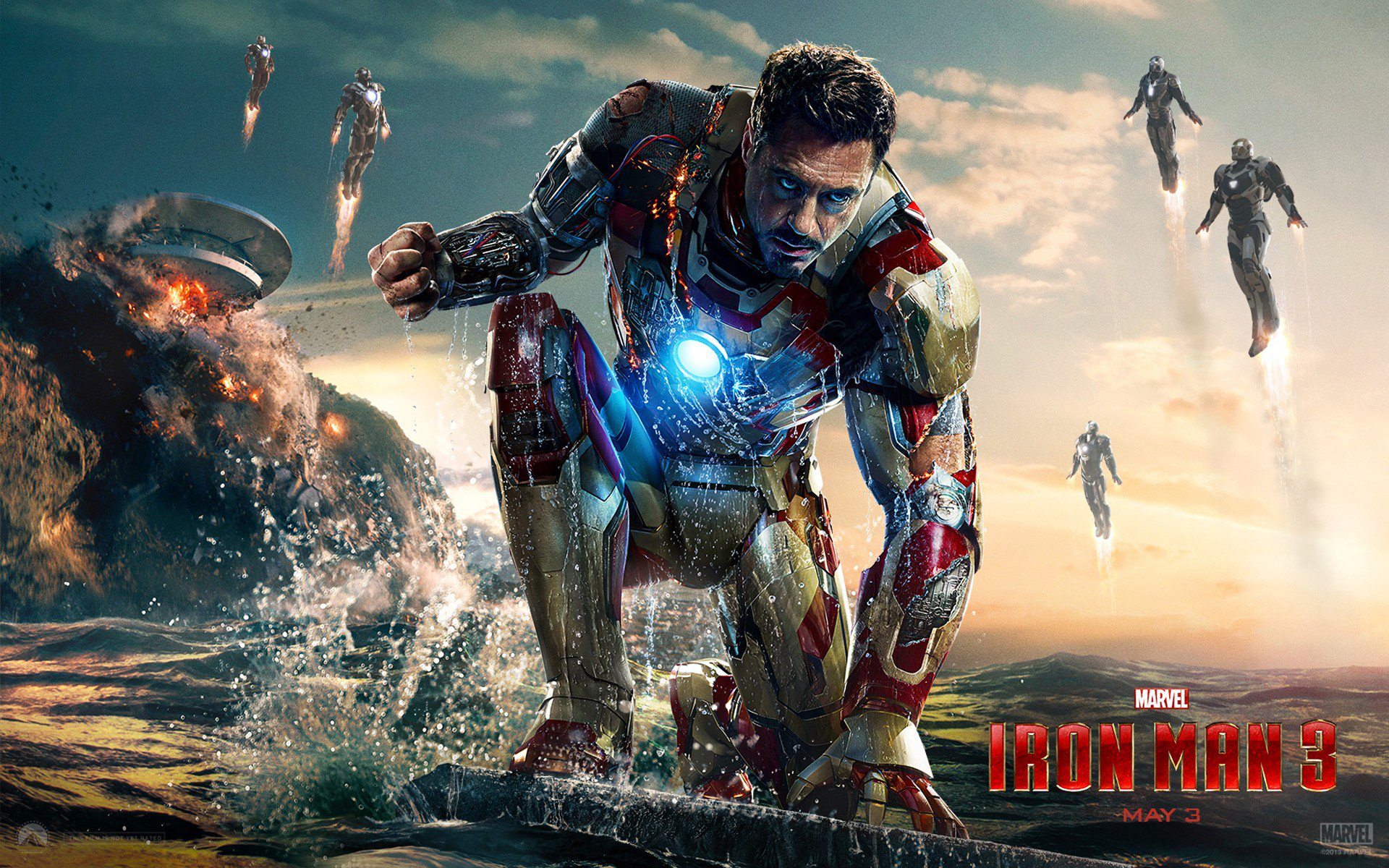 Iron Man 3 Robert Downey Jr Tony Stark HD Wallpaper