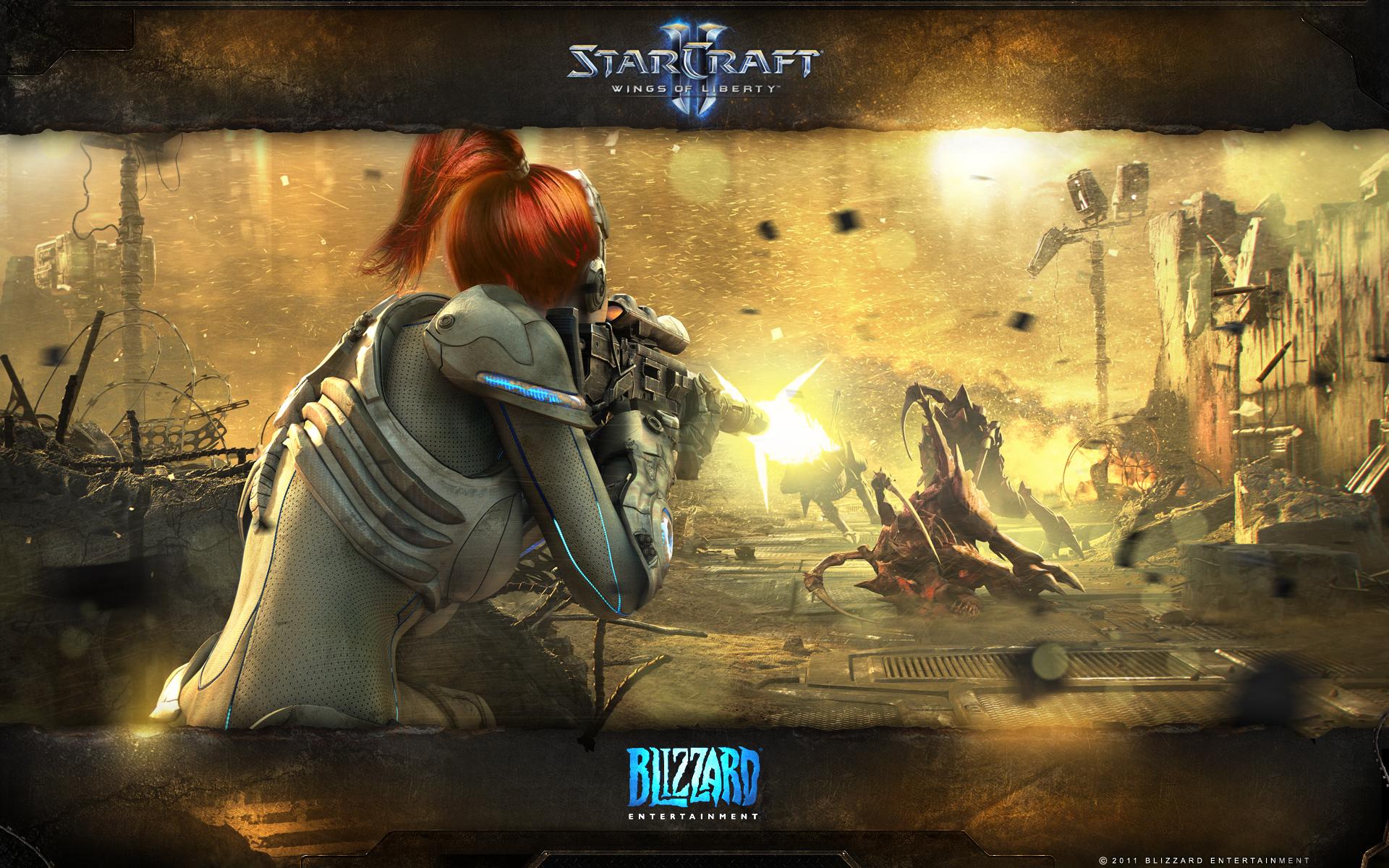Jim Raynor And Sarah Kerrigan StarCraft II: Heart of...