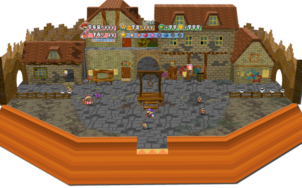 Video Game Paper Mario: The Thousand-Year Door Mario HD Wallpaper | Background Image