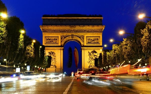 Man Made Arc De Triomphe Monuments HD Wallpaper   Background Image