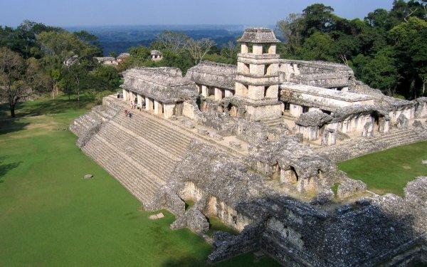 Man Made Palenque Chiapas Mexico Archeological Site Palenque Mexico Temple HD Wallpaper   Background Image