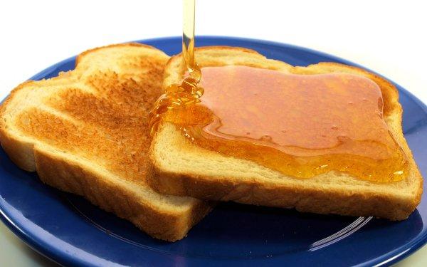 Alimento Miel Pan Toast Fondo de pantalla HD | Fondo de Escritorio