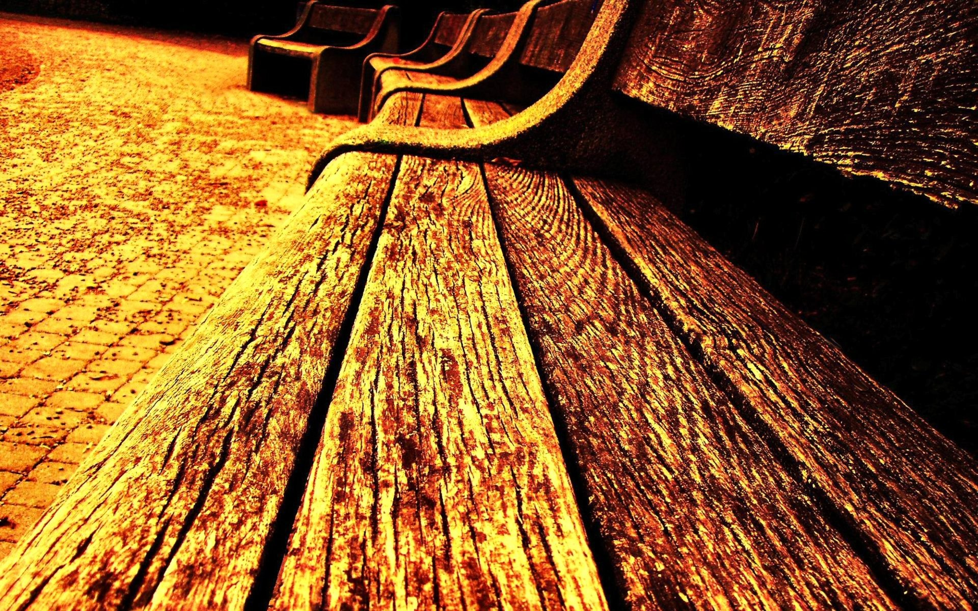 Man Made - Bench  Texture Photography Wallpaper