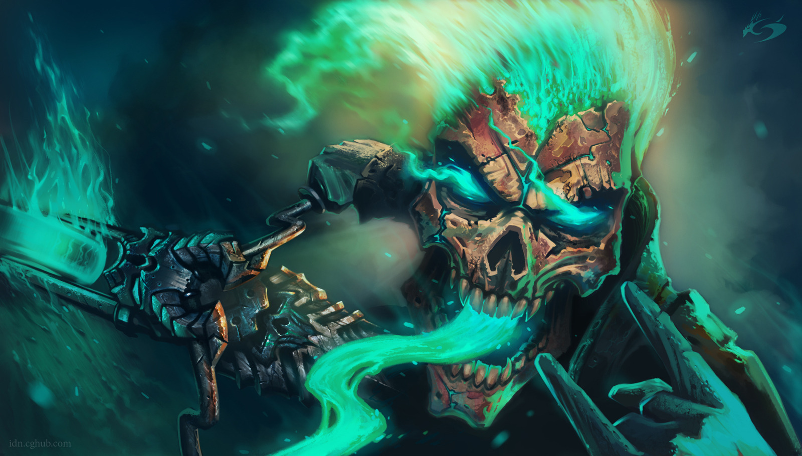 Skull Wallpaper and Background Image   1600x910   ID:385503