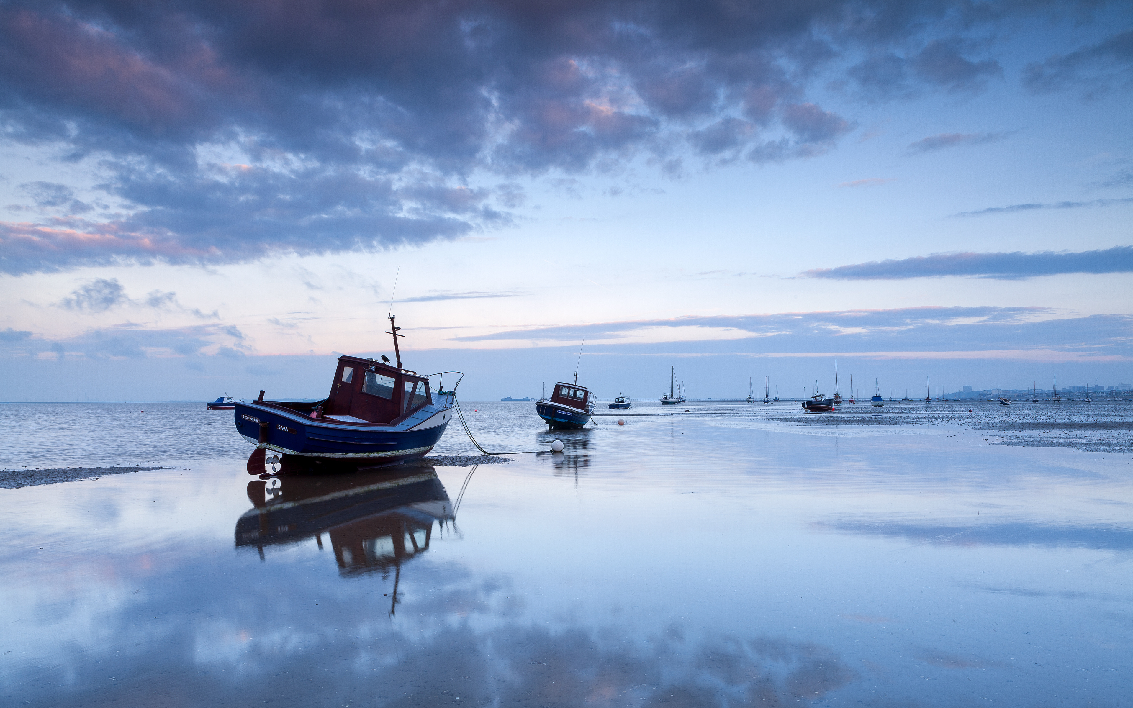vehicles boat reflection sky cloud ocean sea wallpaper