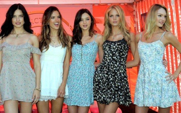 Women Model Models Adriana Lima Miranda Kerr Erin Heatherton Alessandra Ambrosio Candice Swanepoel HD Wallpaper | Background Image