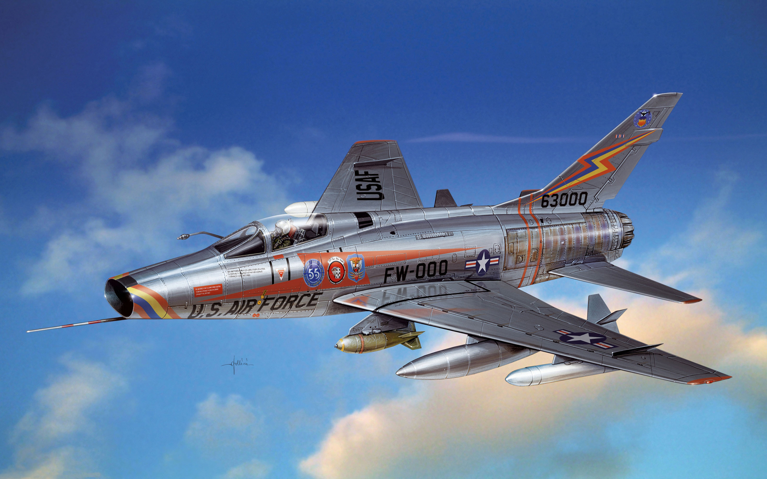 7 North American F-100 Super Sabre HD Wallpapers ...