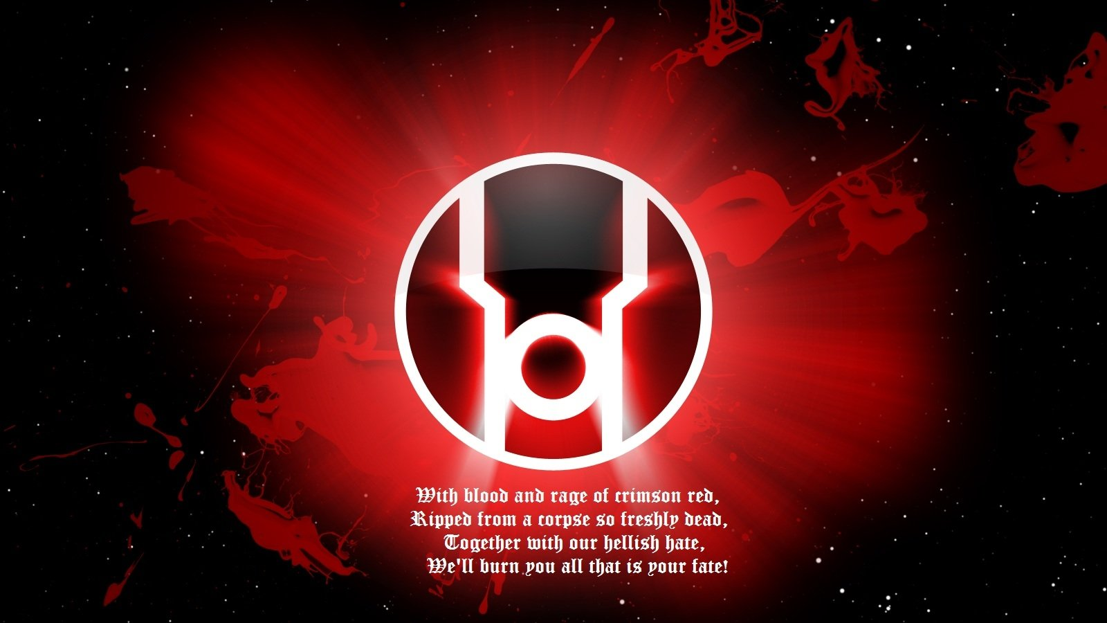 Red Lantern Corps Wallpaper and