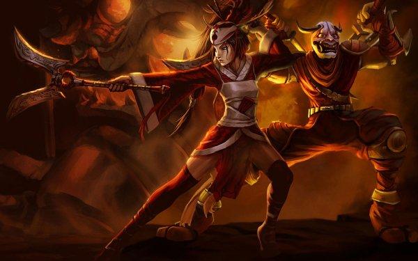 Video Game League Of Legends Akali Shen HD Wallpaper | Background Image