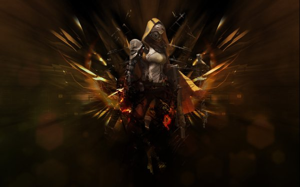 Video Game Destiny Cowl Armor Rifle Girls & Guns Cloak HD Wallpaper | Background Image