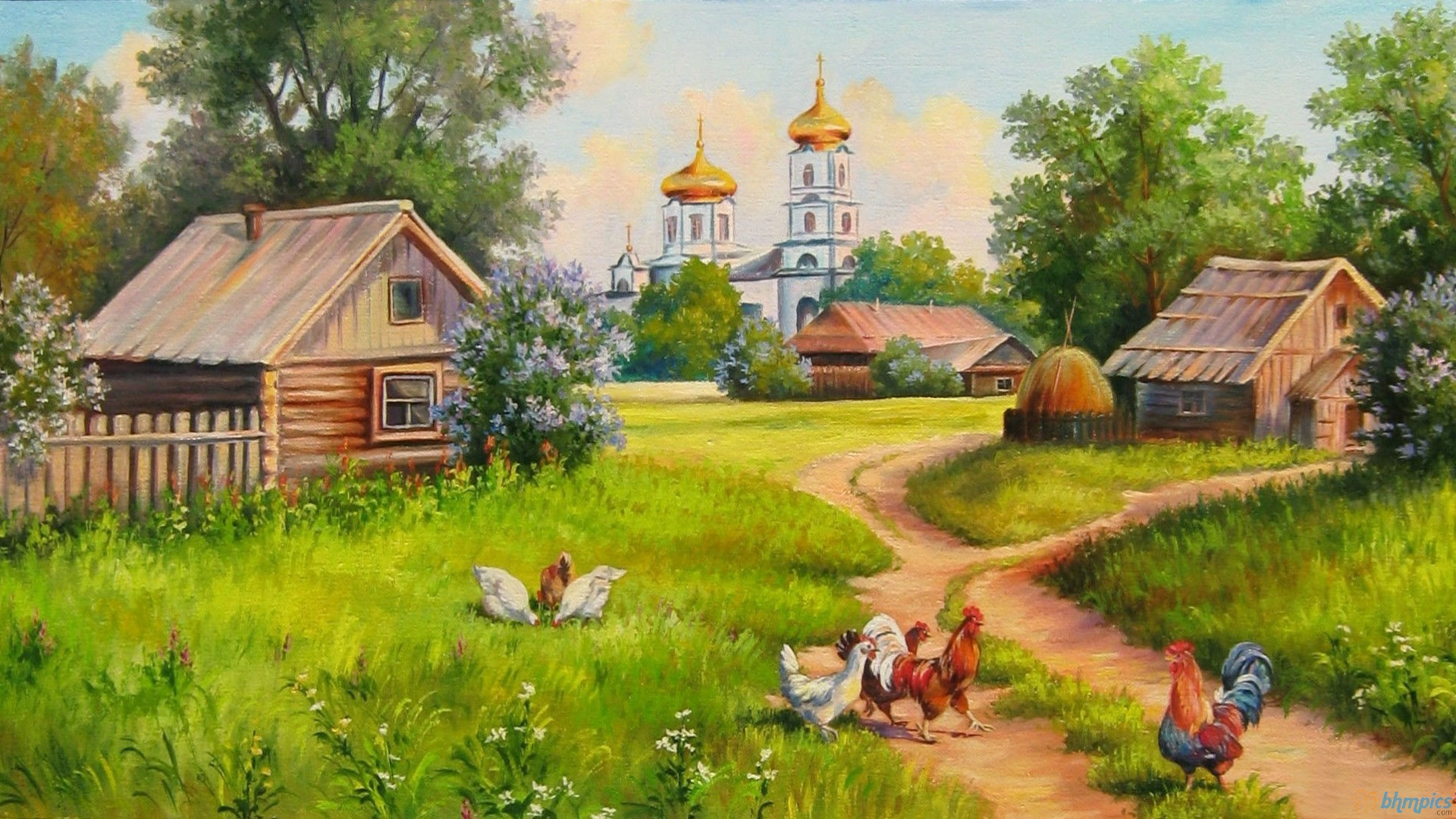 Village computer wallpapers desktop backgrounds for Wallpaper home animation