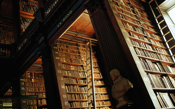 Man Made Library Trinity College Library Dublin HD Wallpaper | Background Image