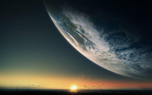 Sci Fi Sunrise HD Wallpaper | Background Image