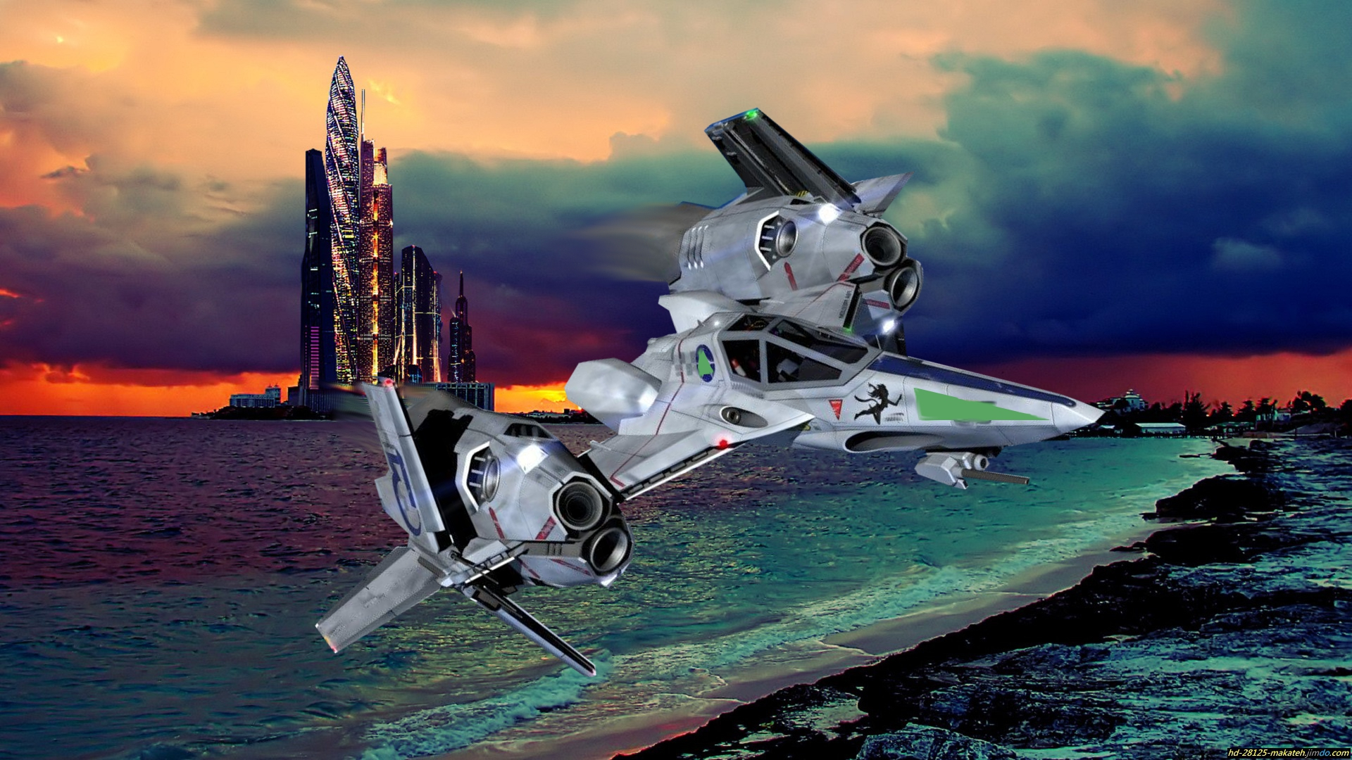 3d spatial science fiction blond slave 10