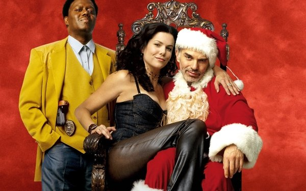 Movie Bad Santa Billy Bob Thornton Lauren Graham Bernie Mac HD Wallpaper | Background Image