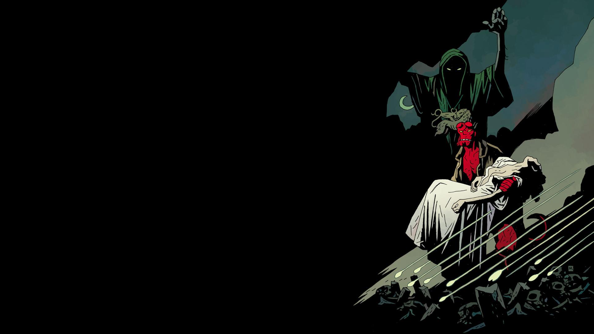 comics hellboy the bride of hell wallpaper