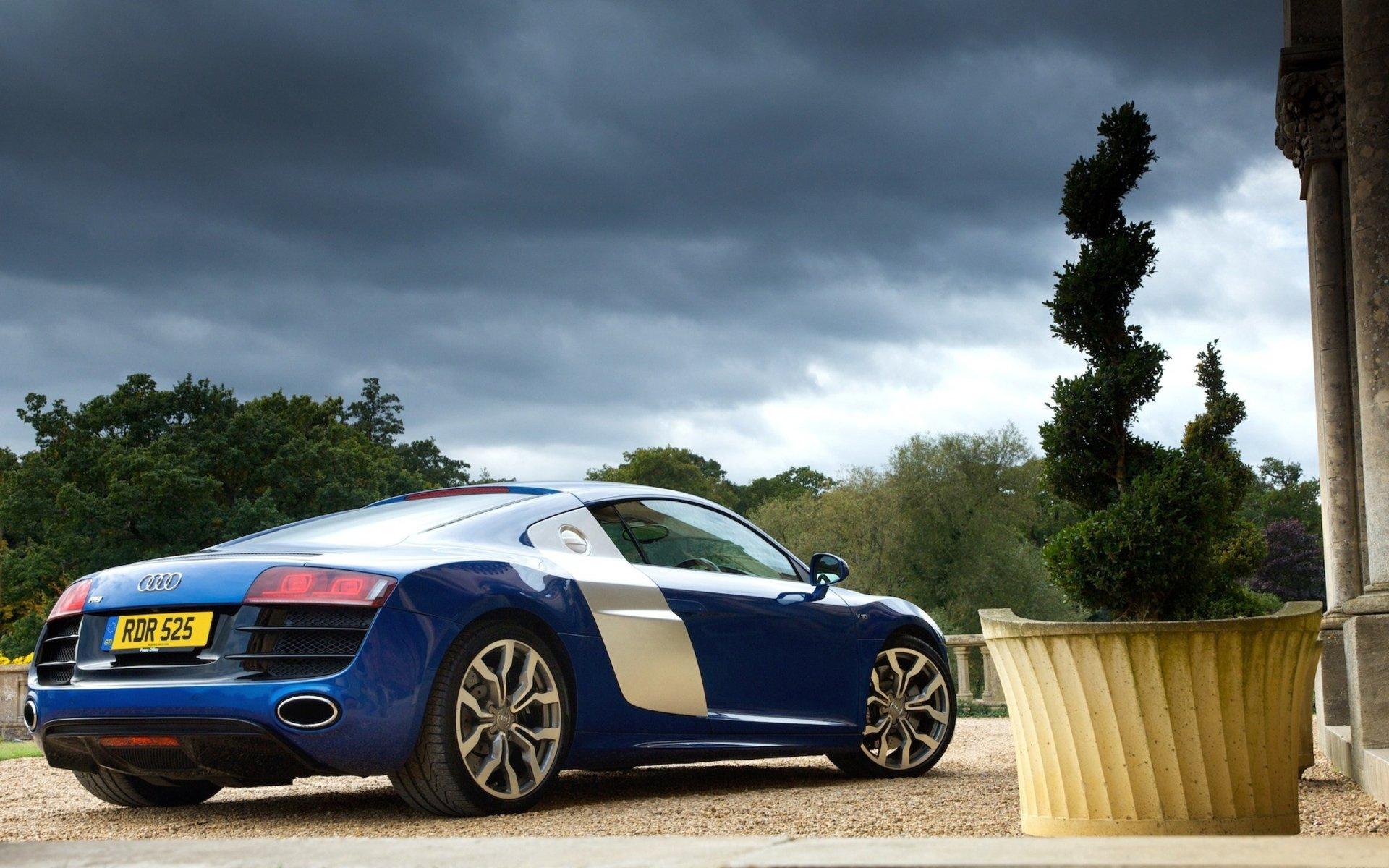 Vehicles - Audi R8  Audi Blue Car Supercar Car Vehicle Wallpaper