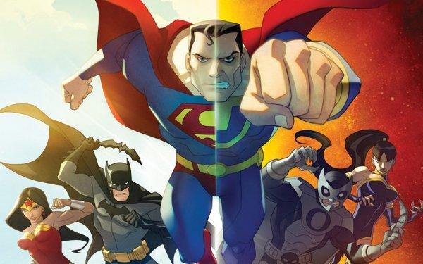 Movie Justice League: Crisis On Two Earths Justice League Wonder Woman Batman Superman Owlman Superwoman HD Wallpaper   Background Image