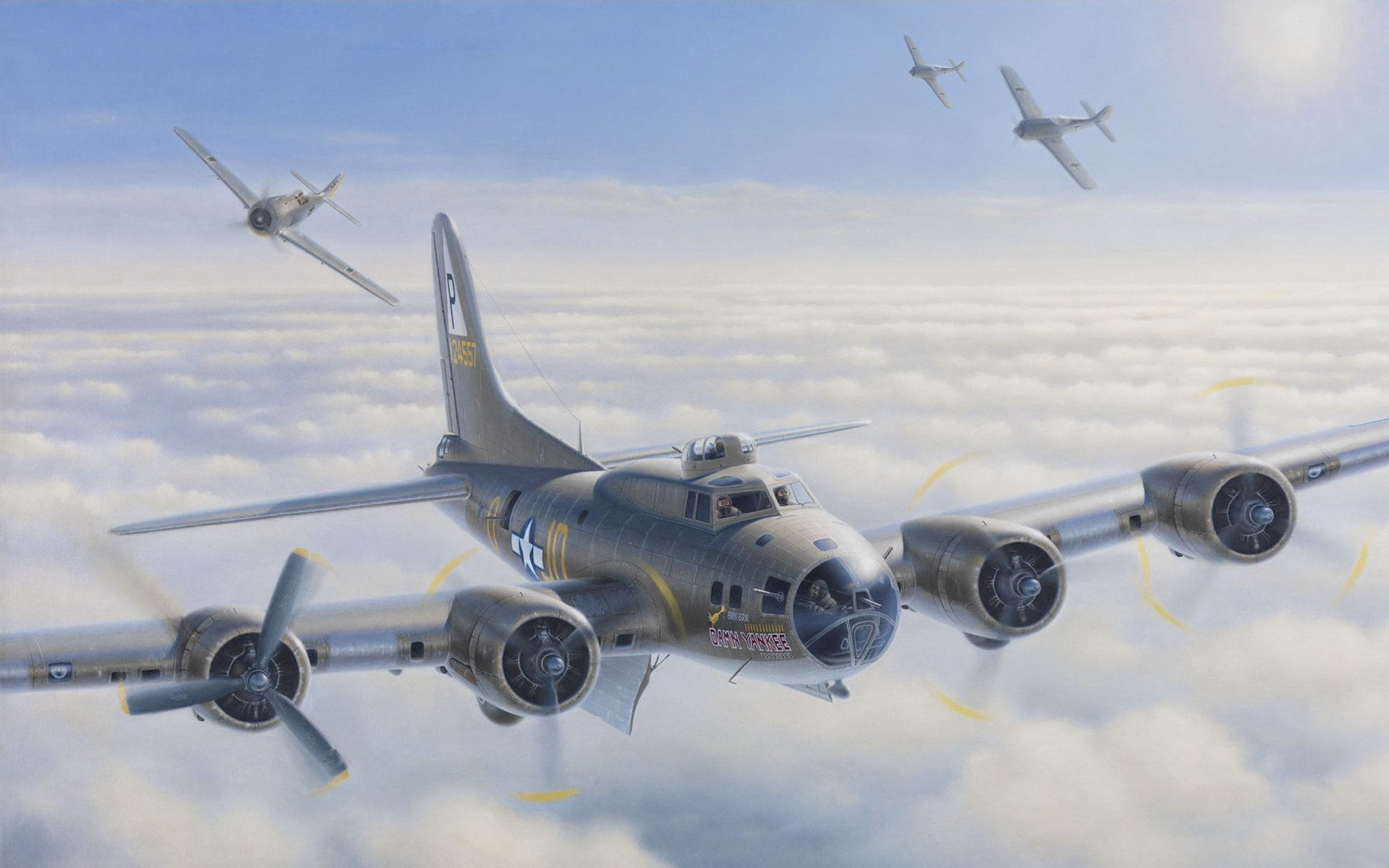 Military - Boei... B 17 Flying Fortress Wallpaper