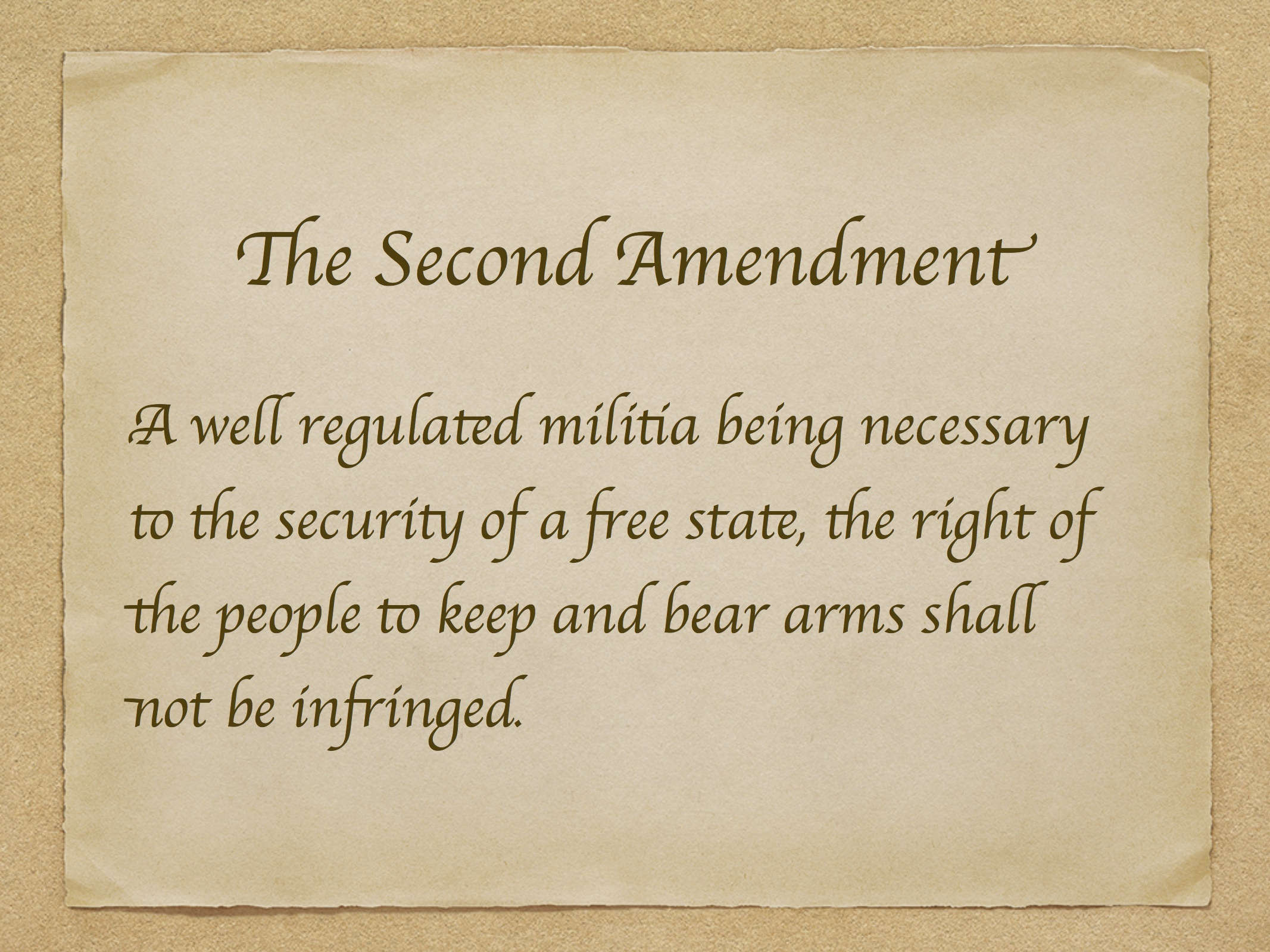 amendment 2 right to bear arms  the right of the people to keep and bear arms shall not be infringed quot in other words in order to keep america protected citizens have a right
