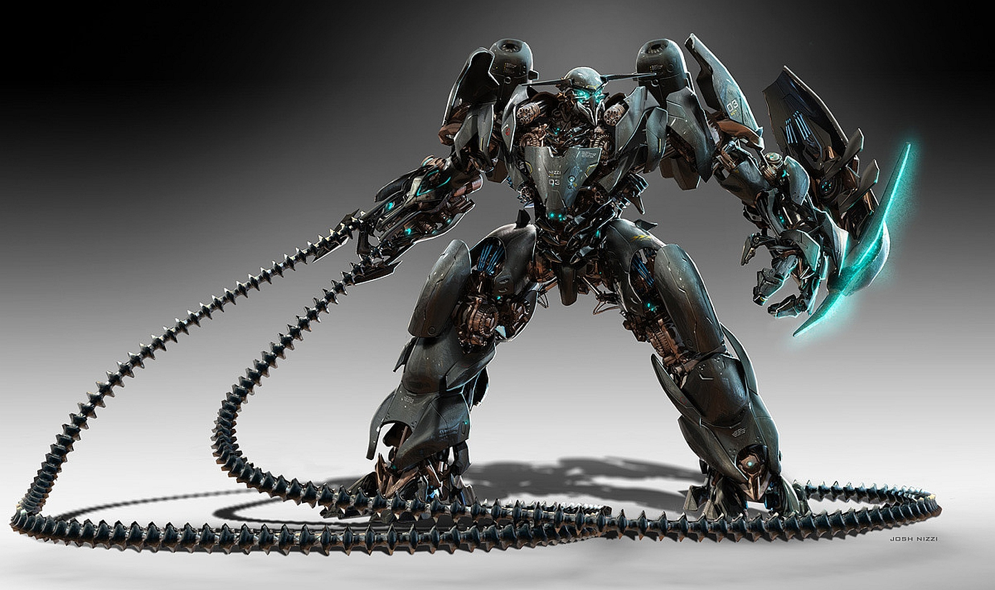 Robot wallpaper and background image 1440x854 id 410154 - Robot wallpaper 3d ...