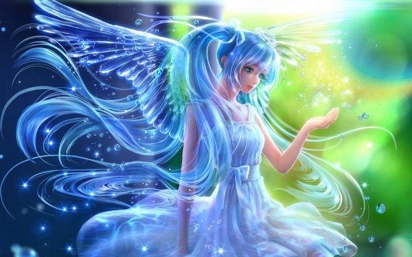 Anime Vocaloid Hatsune Miku Blue Hair HD Wallpaper | Hintergrund