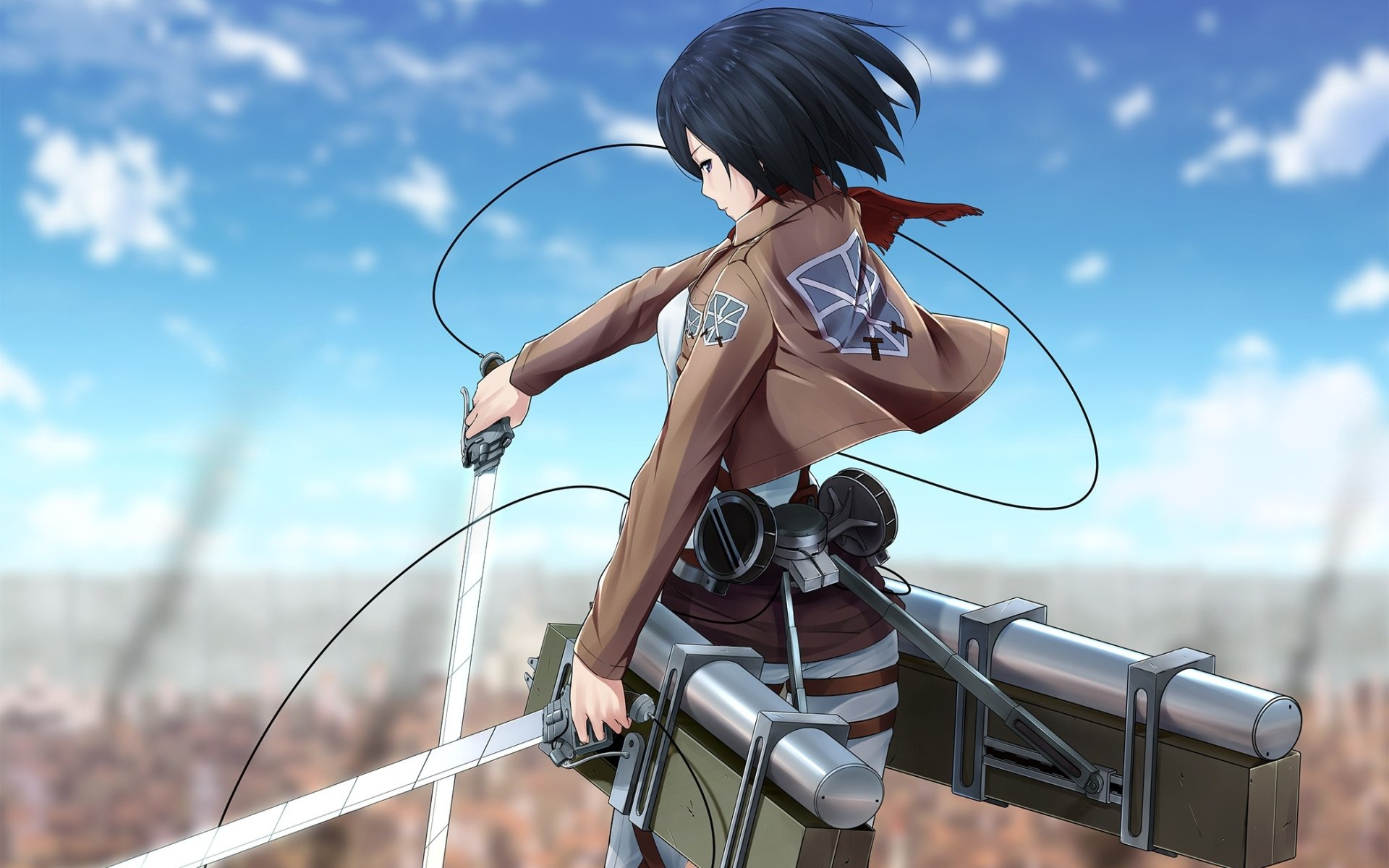 Anime - Attack On Titan  Mikasa Ackerman Wallpaper