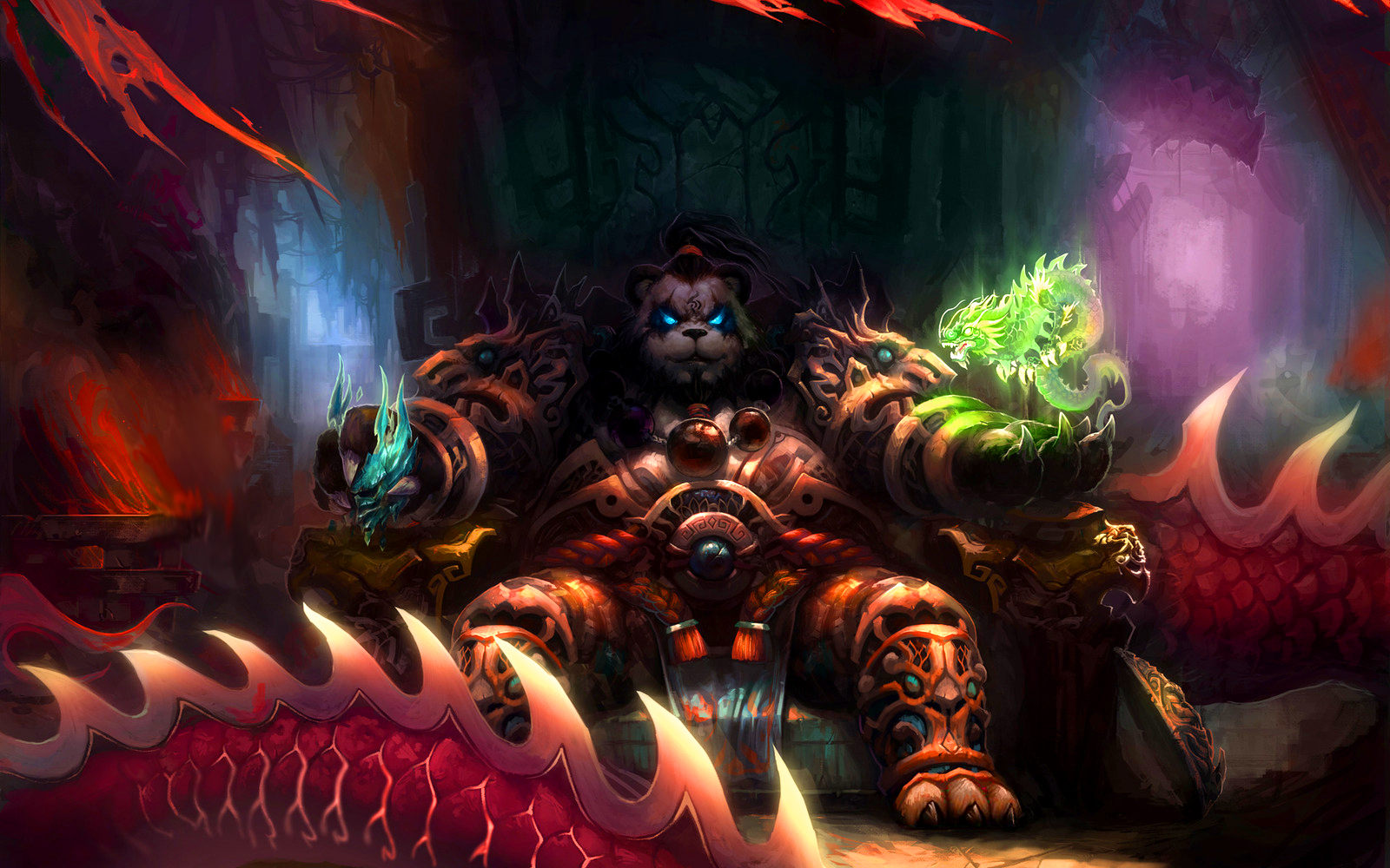 2 pandaren world of warcraft hd wallpapers background - World of warcraft images ...