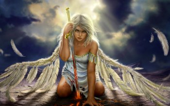Fantasy - Angel Warrior Wallpapers and Backgrounds ID : 418025