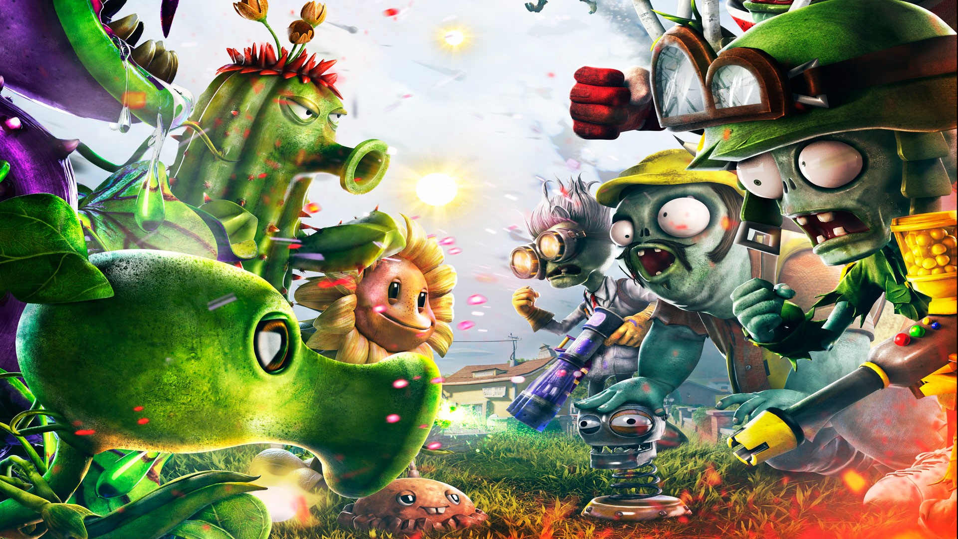 Plants Vs Zombies Garden Warfare Hd Wallpaper Background Image 1920x1080 Id 419230