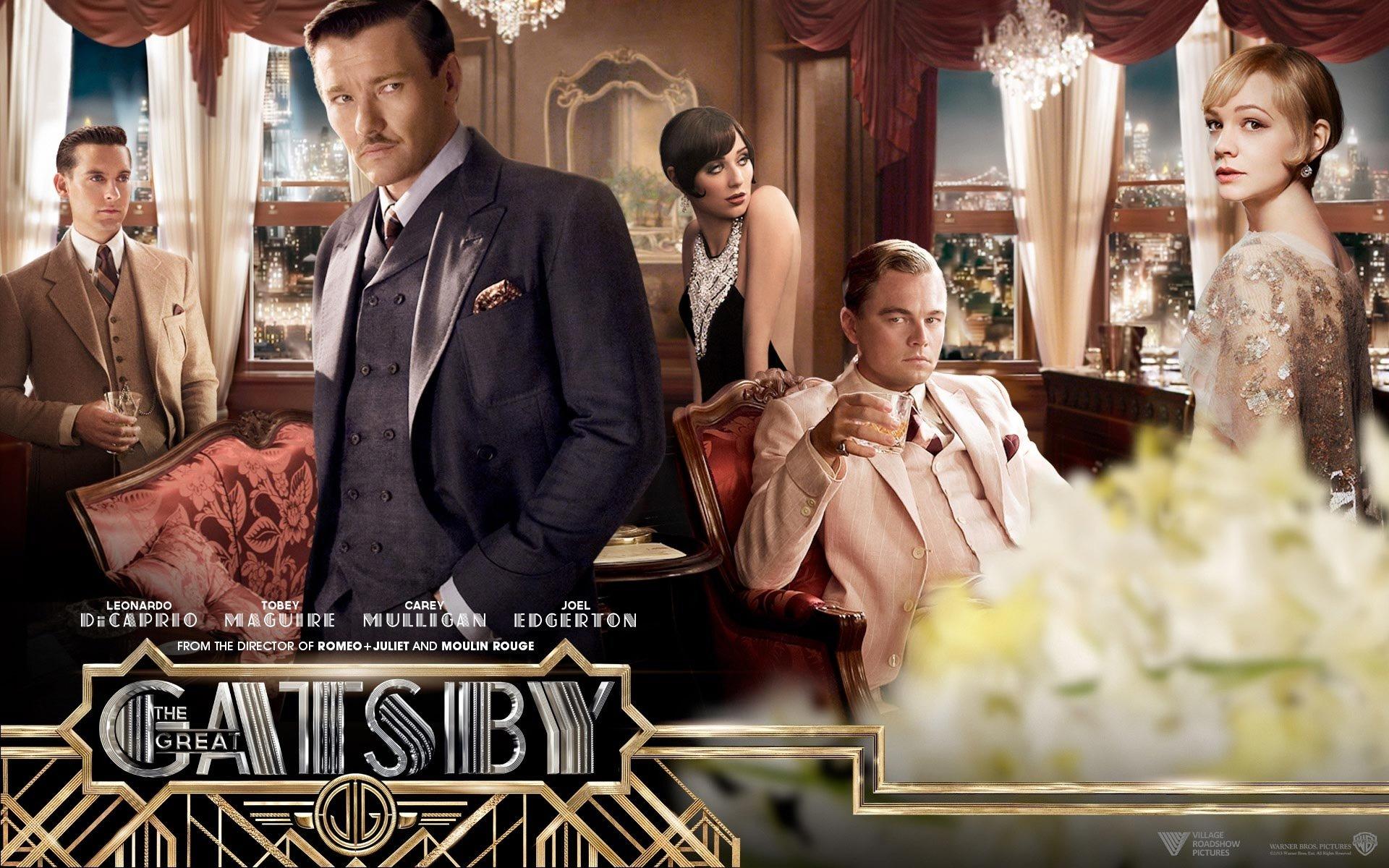 Movie - The Great Gatsby  Leonardo Dicaprio Tobey Maguire Carey Mulligan Elizabeth Debicki Joel Edgerton Wallpaper