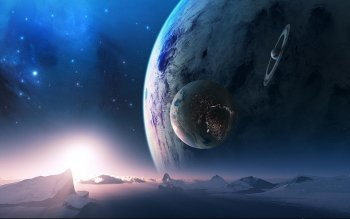 Science-Fiction - Planetenaufgang Wallpapers and Backgrounds