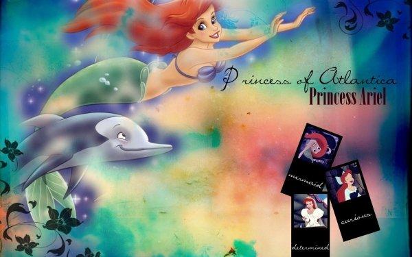Movie The Little Mermaid (1989) The Little Mermaid Ariel Dolphin Mermaid Red Hair HD Wallpaper | Background Image