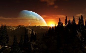 Научная фантастика - Planet Rise Wallpapers and Backgrounds ID : 422039